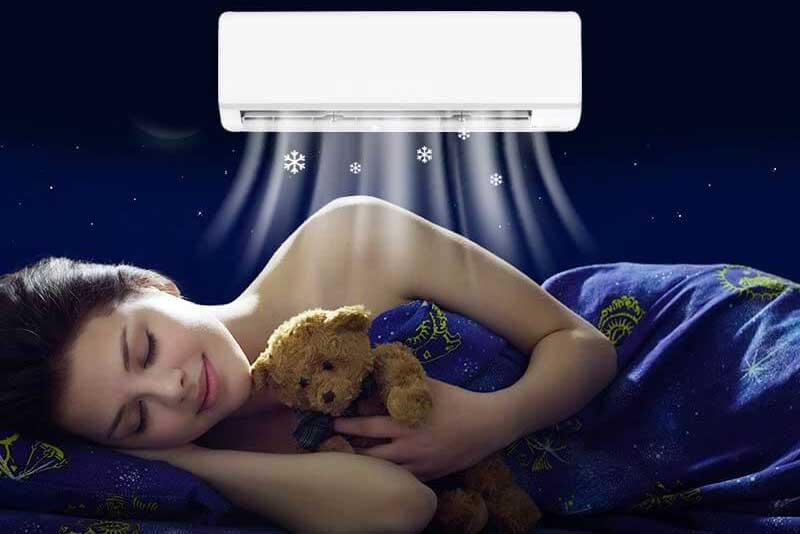 il condizionatore di notte fa male?